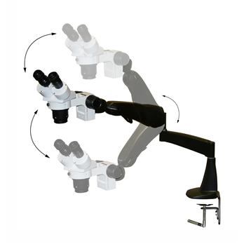 Image of  DM Dual Mag Stereomicroscope with Flex Arms